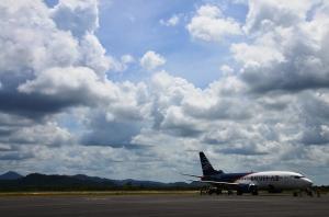 landing with Batavia Air