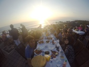 Sunset before dinner at Tanah Lot